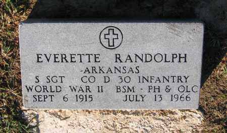RANDOLPH (VETERAN WWII), EVERETTE - Lawrence County, Arkansas | EVERETTE RANDOLPH (VETERAN WWII) - Arkansas Gravestone Photos