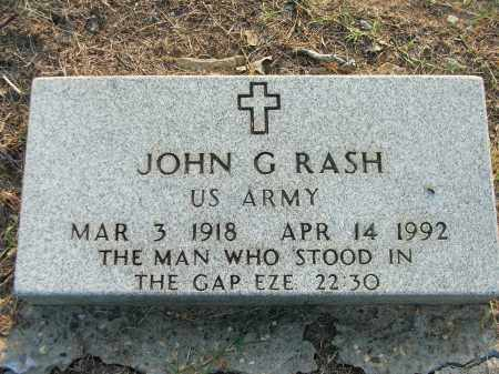 RASH (VETERAN), JOHN GALBREATH - Lawrence County, Arkansas | JOHN GALBREATH RASH (VETERAN) - Arkansas Gravestone Photos