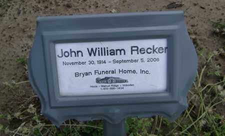 RECKER, JOHN WILLIAM - Lawrence County, Arkansas | JOHN WILLIAM RECKER - Arkansas Gravestone Photos