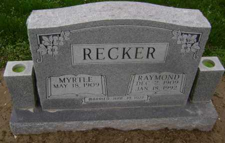 RECKER, MYRTLE MILDRED - Lawrence County, Arkansas | MYRTLE MILDRED RECKER - Arkansas Gravestone Photos