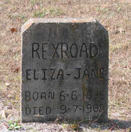 REXROAD, ELIZA JANE - Lawrence County, Arkansas | ELIZA JANE REXROAD - Arkansas Gravestone Photos