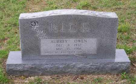 RICE, AUBREY OWEN - Lawrence County, Arkansas | AUBREY OWEN RICE - Arkansas Gravestone Photos