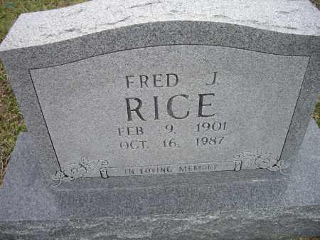 RICE, FRED J. - Lawrence County, Arkansas | FRED J. RICE - Arkansas Gravestone Photos