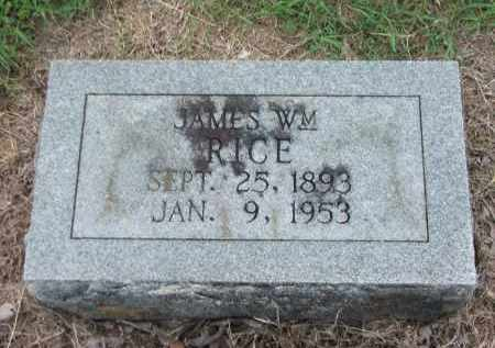 RICE, JAMES WILLIAM - Lawrence County, Arkansas | JAMES WILLIAM RICE - Arkansas Gravestone Photos