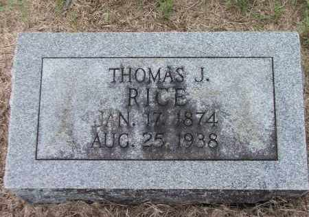 RICE, THOMAS JEFFERSON - Lawrence County, Arkansas | THOMAS JEFFERSON RICE - Arkansas Gravestone Photos