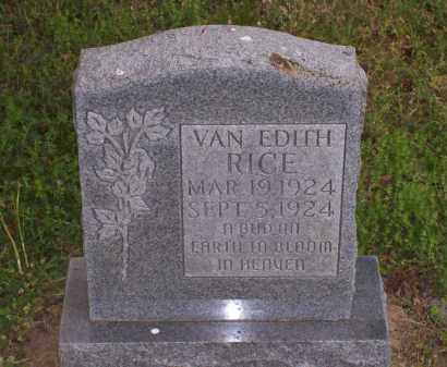 RICE, VAN EDITH - Lawrence County, Arkansas | VAN EDITH RICE - Arkansas Gravestone Photos