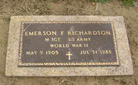 RICHARDSON  (VETERAN WWII), EMERSON F - Lawrence County, Arkansas | EMERSON F RICHARDSON  (VETERAN WWII) - Arkansas Gravestone Photos