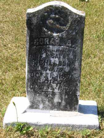RICHARDSON, CORAH A. - Lawrence County, Arkansas | CORAH A. RICHARDSON - Arkansas Gravestone Photos