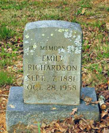 RICHARDSON, EMILY - Lawrence County, Arkansas | EMILY RICHARDSON - Arkansas Gravestone Photos