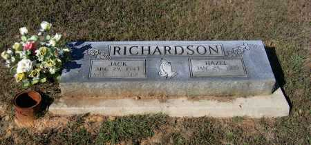 RICHARDSON (VETERAN 2 WARS), JACK WESLEY - Lawrence County, Arkansas | JACK WESLEY RICHARDSON (VETERAN 2 WARS) - Arkansas Gravestone Photos