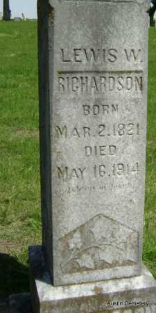 RICHARDSON, LEWIS W. - Lawrence County, Arkansas | LEWIS W. RICHARDSON - Arkansas Gravestone Photos