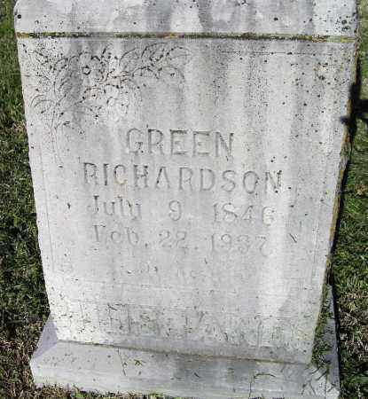 RICHARDSON (VETERAN CSA), LAWSON EDWARD GREEN - Lawrence County, Arkansas | LAWSON EDWARD GREEN RICHARDSON (VETERAN CSA) - Arkansas Gravestone Photos