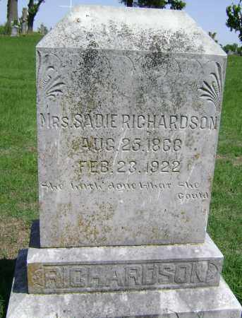 RICHARDSON, SADIE - Lawrence County, Arkansas | SADIE RICHARDSON - Arkansas Gravestone Photos