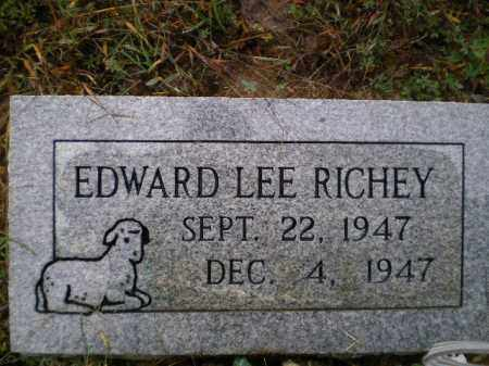 RICHEY, EDWARD LEE - Lawrence County, Arkansas | EDWARD LEE RICHEY - Arkansas Gravestone Photos