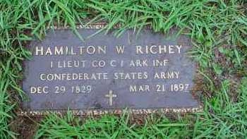 RICHEY, SR. (VETERAN CSA), HAMILTON W. - Lawrence County, Arkansas | HAMILTON W. RICHEY, SR. (VETERAN CSA) - Arkansas Gravestone Photos