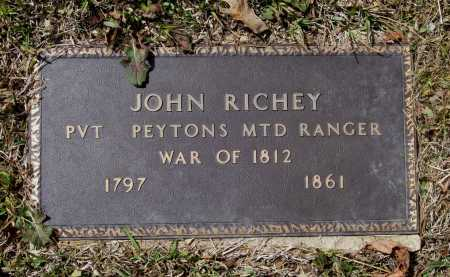 RICHEY (VETERAN 1812), JOHN - Lawrence County, Arkansas | JOHN RICHEY (VETERAN 1812) - Arkansas Gravestone Photos