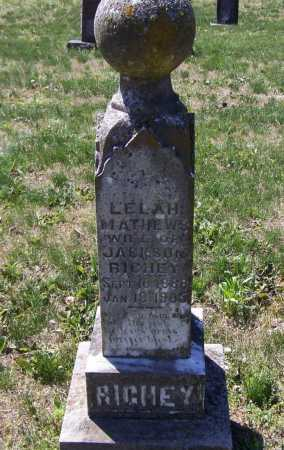 "MATTHEWS RICHEY, LELAH BELLE ""LILA"" - Lawrence County, Arkansas 