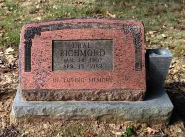 RICHMOND, URAL JOHN RILEY - Lawrence County, Arkansas | URAL JOHN RILEY RICHMOND - Arkansas Gravestone Photos