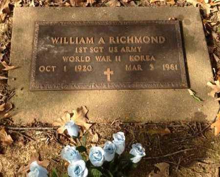 RICHMOND (VETERAN 2 WARS), WILLIAM A. - Lawrence County, Arkansas | WILLIAM A. RICHMOND (VETERAN 2 WARS) - Arkansas Gravestone Photos