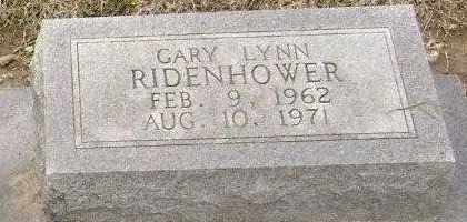 RIDENHOWER, GARY LYNN - Lawrence County, Arkansas | GARY LYNN RIDENHOWER - Arkansas Gravestone Photos