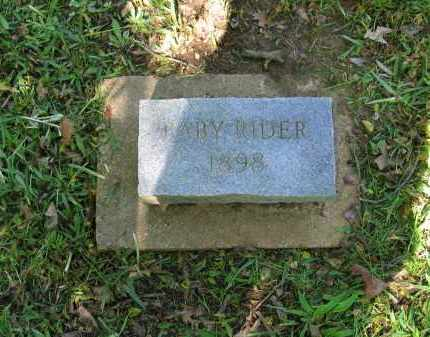 RIDER, BABY - Lawrence County, Arkansas | BABY RIDER - Arkansas Gravestone Photos