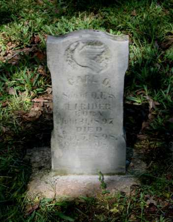 RIDER, CARL O. - Lawrence County, Arkansas   CARL O. RIDER - Arkansas Gravestone Photos