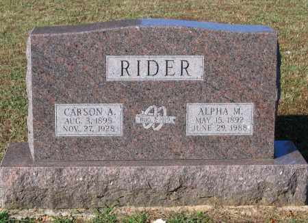 RIDER, ALPHA MAE - Lawrence County, Arkansas | ALPHA MAE RIDER - Arkansas Gravestone Photos
