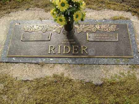 RIDER, DARRELL - Lawrence County, Arkansas | DARRELL RIDER - Arkansas Gravestone Photos
