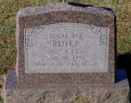 RIDER, EDGAR LEE - Lawrence County, Arkansas | EDGAR LEE RIDER - Arkansas Gravestone Photos