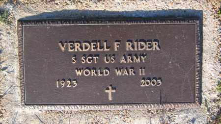 RIDER (VETERAN WWII), VERDELL FRANKLIN - Lawrence County, Arkansas | VERDELL FRANKLIN RIDER (VETERAN WWII) - Arkansas Gravestone Photos