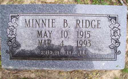 RIDGE, MINNIE B. - Lawrence County, Arkansas | MINNIE B. RIDGE - Arkansas Gravestone Photos