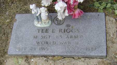 RIGGS  (VETERAN WWII), TEE E. - Lawrence County, Arkansas | TEE E. RIGGS  (VETERAN WWII) - Arkansas Gravestone Photos