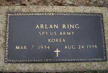 RING (VETERAN KOR), ARLAN D. - Lawrence County, Arkansas | ARLAN D. RING (VETERAN KOR) - Arkansas Gravestone Photos