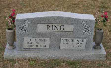 RING, VIRGIE MAE - Lawrence County, Arkansas | VIRGIE MAE RING - Arkansas Gravestone Photos