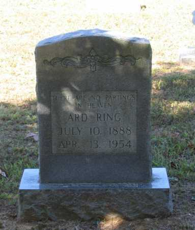 "RING, JOHN ARDEN ""ARD"" - Lawrence County, Arkansas 