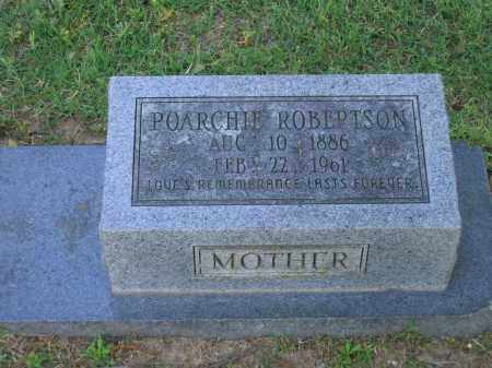 ROBERTSON, POARCHIE - Lawrence County, Arkansas | POARCHIE ROBERTSON - Arkansas Gravestone Photos