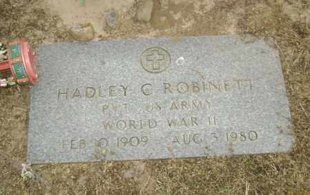ROBINETT (VETERAN WWII), HADLEY CARROLL - Lawrence County, Arkansas | HADLEY CARROLL ROBINETT (VETERAN WWII) - Arkansas Gravestone Photos