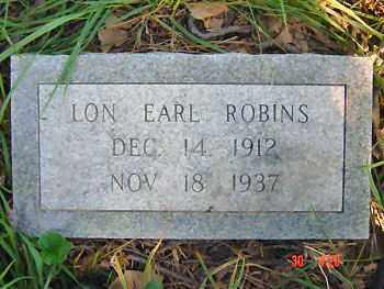 ROBINS, LON EARL - Lawrence County, Arkansas | LON EARL ROBINS - Arkansas Gravestone Photos
