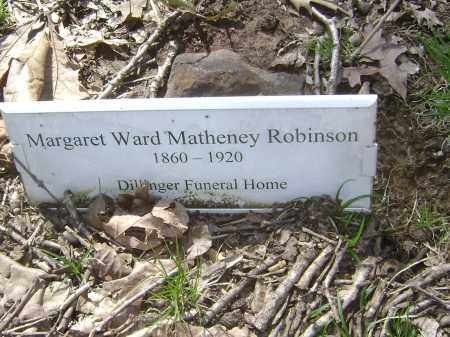 MATHENEY ROBINSON, MARGARET - Lawrence County, Arkansas | MARGARET MATHENEY ROBINSON - Arkansas Gravestone Photos