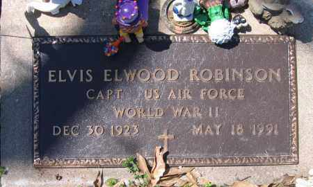 ROBINSON (VETERAN WWII), ELVIS ELWOOD - Lawrence County, Arkansas | ELVIS ELWOOD ROBINSON (VETERAN WWII) - Arkansas Gravestone Photos