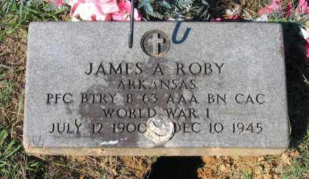 ROBY (VETERAN WWI), JAMES AUGUST - Lawrence County, Arkansas | JAMES AUGUST ROBY (VETERAN WWI) - Arkansas Gravestone Photos