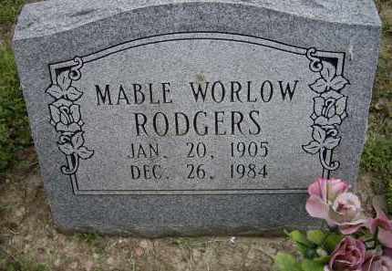 WORLOW RODGERS, MABLE - Lawrence County, Arkansas | MABLE WORLOW RODGERS - Arkansas Gravestone Photos