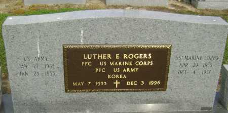 ROGERS  (VETERAN KOR), LUTHER E. - Lawrence County, Arkansas | LUTHER E. ROGERS  (VETERAN KOR) - Arkansas Gravestone Photos