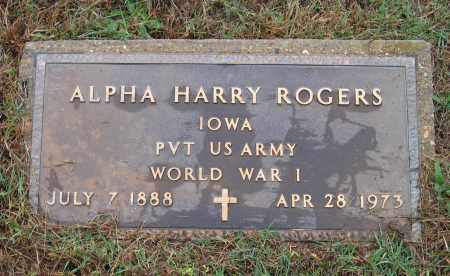 ROGERS (VETERAN WWI), ALPHA HARRY - Lawrence County, Arkansas | ALPHA HARRY ROGERS (VETERAN WWI) - Arkansas Gravestone Photos