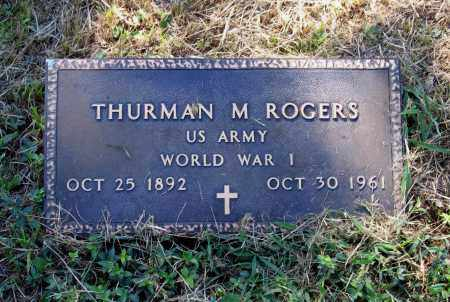 ROGERS (VETERAN WWI), THURMAN M. - Lawrence County, Arkansas | THURMAN M. ROGERS (VETERAN WWI) - Arkansas Gravestone Photos