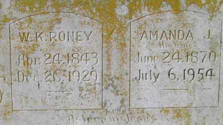 RONEY (VETERAN CSA), WILLIAM K. - Lawrence County, Arkansas | WILLIAM K. RONEY (VETERAN CSA) - Arkansas Gravestone Photos