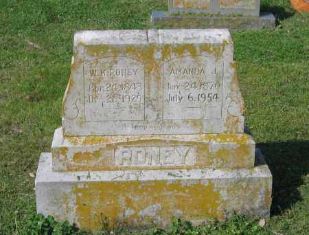 RONEY, WILLIAM K. - Lawrence County, Arkansas | WILLIAM K. RONEY - Arkansas Gravestone Photos