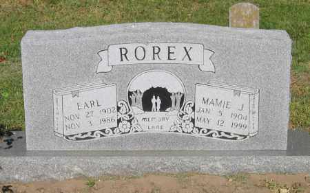 ROREX, EARL - Lawrence County, Arkansas | EARL ROREX - Arkansas Gravestone Photos