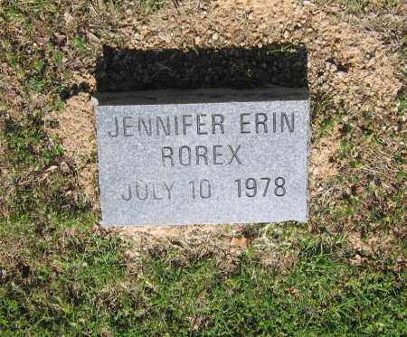 ROREX, JENNIFER ERIN - Lawrence County, Arkansas | JENNIFER ERIN ROREX - Arkansas Gravestone Photos