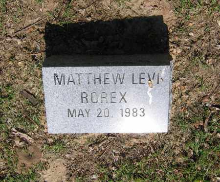 ROREX, MATTHEW LEVI - Lawrence County, Arkansas | MATTHEW LEVI ROREX - Arkansas Gravestone Photos